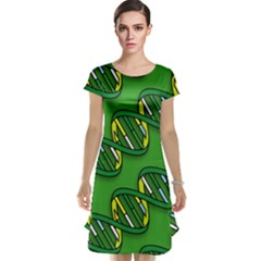 DNA Pattern Cap Sleeve Nightdresses