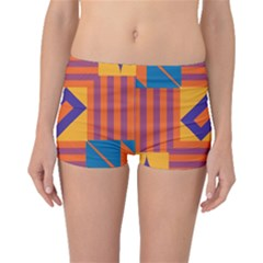 Shapes And Stripes Symmetric Design Boyleg Bikini Bottoms