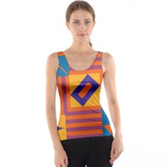 Shapes And Stripes Symmetric Design Tank Top