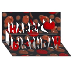 Blood Cells Happy Birthday 3D Greeting Card (8x4)