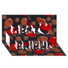 Blood Cells Best Friends 3D Greeting Card (8x4)