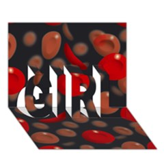 Blood Cells Girl 3d Greeting Card (7x5)