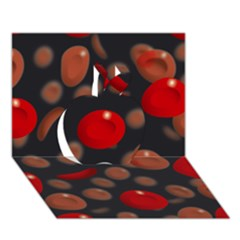 Blood Cells Apple 3D Greeting Card (7x5)