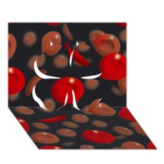 Blood Cells Clover 3d Greeting Card (7x5)