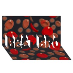 Blood Cells BEST BRO 3D Greeting Card (8x4)