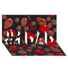 Blood Cells #1 DAD 3D Greeting Card (8x4)