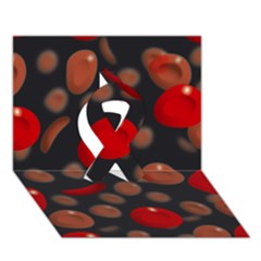 Blood Cells Ribbon 3D Greeting Card (7x5)