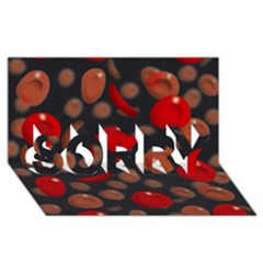 Blood Cells SORRY 3D Greeting Card (8x4)