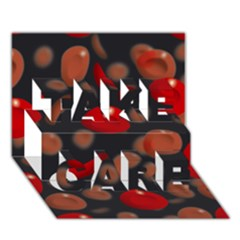 Blood Cells TAKE CARE 3D Greeting Card (7x5)