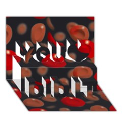Blood Cells You Did It 3D Greeting Card (7x5)