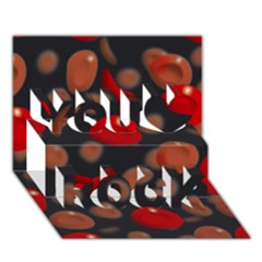 Blood Cells You Rock 3D Greeting Card (7x5)
