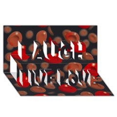 Blood Cells Laugh Live Love 3d Greeting Card (8x4)
