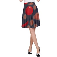 Blood Cells A-Line Skirts