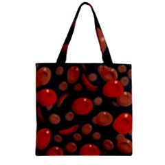 Blood Cells Zipper Grocery Tote Bags
