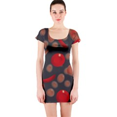 Blood Cells Short Sleeve Bodycon Dresses