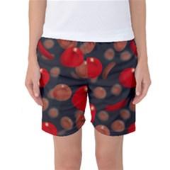 Blood Cells Women s Basketball Shorts