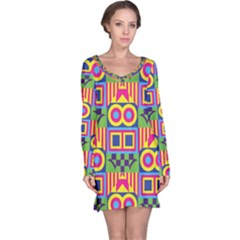 Colorful shapes in rhombus pattern nightdress
