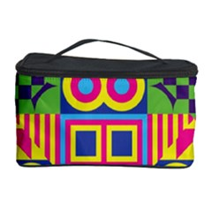 Colorful Shapes In Rhombus Pattern Cosmetic Storage Case