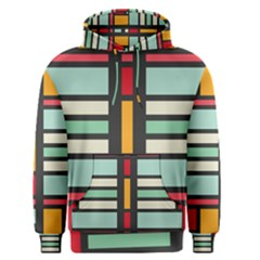 Mirrored rectangles in retro colors Men s Pullover Hoodie
