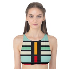 Mirrored rectangles in retro colors Tank Bikini Top