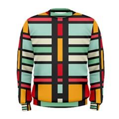 Mirrored Rectangles In Retro Colors  Men s Sweatshirt