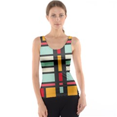 Mirrored rectangles in retro colors Tank Top