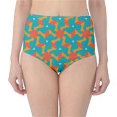 Sun pattern High-Waist Bikini Bottoms