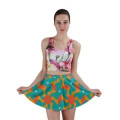 Sun Pattern Mini Skirt