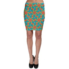 Sun Pattern Bodycon Skirt