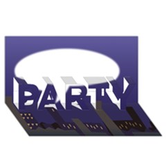 City Speech  PARTY 3D Greeting Card (8x4)