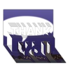 City Speech  Thank You 3d Greeting Card (7x5)