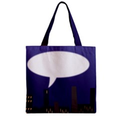 City Speech  Zipper Grocery Tote Bags