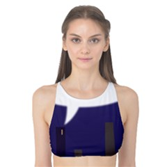 City Speech  Tank Bikini Top