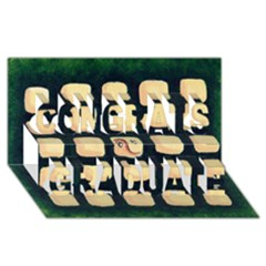 Crowd  Congrats Graduate 3D Greeting Card (8x4)
