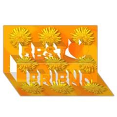 Dandelion Pattern Best Friends 3D Greeting Card (8x4)