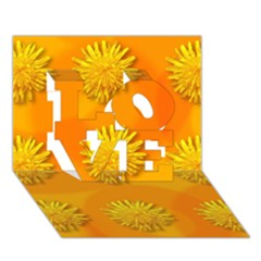 Dandelion Pattern Love 3d Greeting Card (7x5)