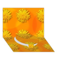 Dandelion Pattern Circle Bottom 3d Greeting Card (7x5)