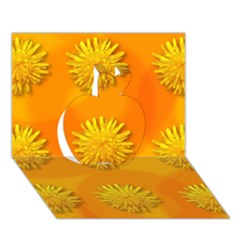 Dandelion Pattern Apple 3D Greeting Card (7x5)