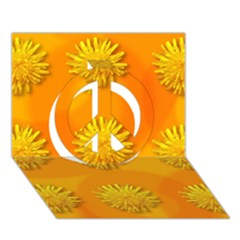 Dandelion Pattern Peace Sign 3d Greeting Card (7x5)