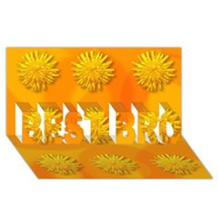 Dandelion Pattern BEST BRO 3D Greeting Card (8x4)