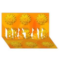 Dandelion Pattern BEST SIS 3D Greeting Card (8x4)
