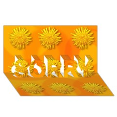 Dandelion Pattern Sorry 3d Greeting Card (8x4)