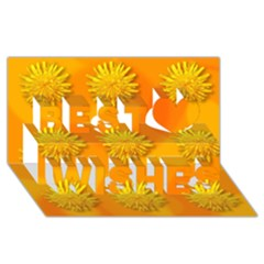 Dandelion Pattern Best Wish 3D Greeting Card (8x4)