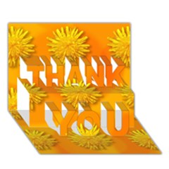 Dandelion Pattern THANK YOU 3D Greeting Card (7x5)