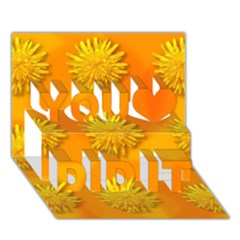 Dandelion Pattern You Did It 3d Greeting Card (7x5)