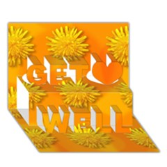 Dandelion Pattern Get Well 3D Greeting Card (7x5)