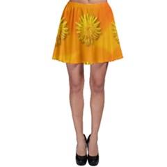 Dandelion Pattern Skater Skirts