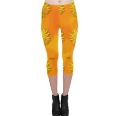 Dandelion Pattern Capri Leggings