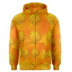 Dandelion Pattern Men s Zipper Hoodies