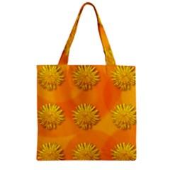 Dandelion Pattern Zipper Grocery Tote Bags